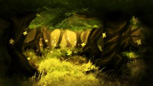forest speedpaint by Napalm1432