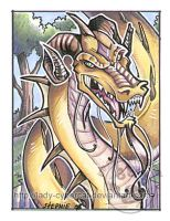 Dragon ACEO by lady-cybercat