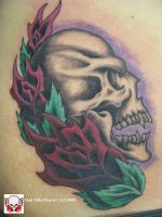 Pirate Skull and Roses by madtattooz
