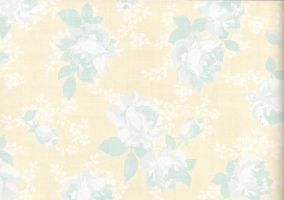 Yellow floral paper stock by laurengee