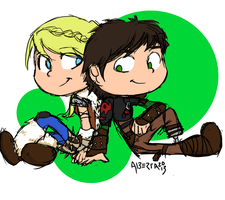 Hiccup and Astrid HTTYD2 by AlbertaFrost