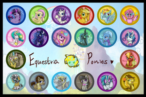 Pony Badges by BuNInA