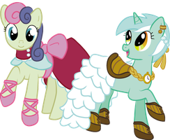 Lyra and Bon Bon by ladypteranodon