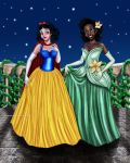 Snow White And Tiana Designer Collection by Mareishon