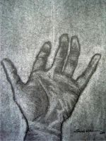 charcoal hand by TheDreamingDreamer
