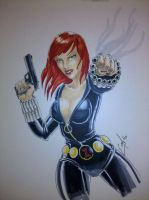 Black Widow Heroes Con 2012 sketch by JediDad