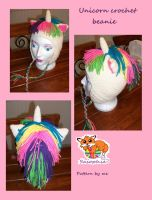 Unicorn crochet beanie by Sasophie