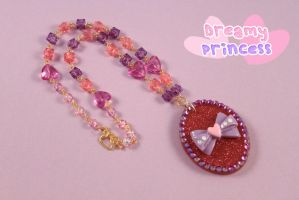Purple Sparkle Necklace by PeppermintPuff