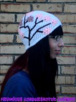Crochet Cherry Blossom Hat by NightsMemories