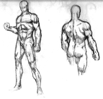 (comics style) muscle study. by Wagnerius2097