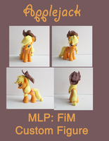 Apple Jack MLP:FiM Custom Sculpt by alltheApples