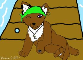 pirate wplf pup by TheTerribleTrio