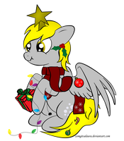 Derpy Christmas 2012 by zomgitsalaura