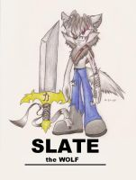 TWoZ character, Slate the Wolf by FayeleneFyre