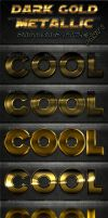 Dark Gold Metallic Photoshop Styles - Part 1 by survivorcz