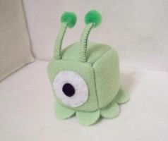 Brain Slug Cube Plushie by JeffSproul