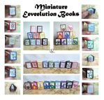 Miniature Eeveelution Books by lilchibichan