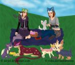 Picnic With Pokemon by sorjei
