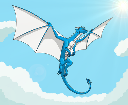The blue dragon by IVISEK