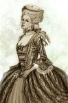 Rococo young lady by DMaula