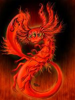 Great Mana of Flame Oxolot by RavenBlackCrow
