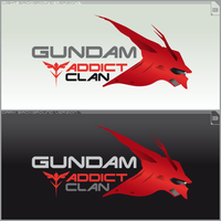 Logo Gundam Addict Clan Ver.3 by ogamitaicho