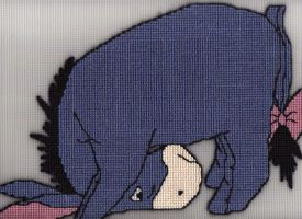 Eeyore fiber art by Alondra-chui