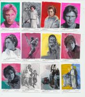 Star wars sketch cards by charles-hall