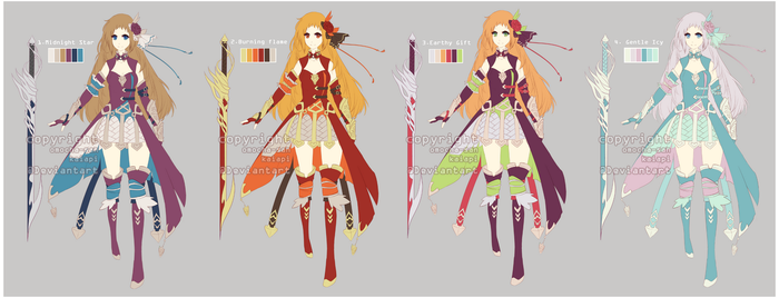 Adopt: Fantasy swordgirl auction [CLOSED] by ZenithOmocha