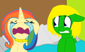 Cleats dealing with Paints mood swings 1 (desc.) by nyan-cat-luver2000