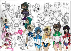 Rough Sailor Senshi by punkrockguy