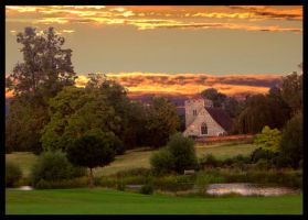 Sunset on Stoke Park by Mahyne
