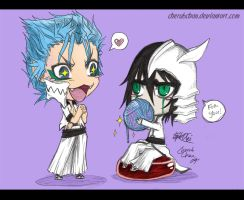 Chibi: Ulqui and Grimmy by cherubchan