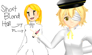 MMD Short Blond Hair DL by Snowwisheslol