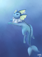 Vaporeon Paint by ieaka