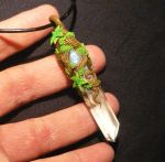 Forest Remnant - handmade Pendant with Moonstone by Ganjamira