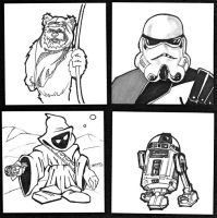 Star Wars Post It Sketches by DrawnToPerfection