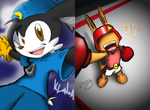 klonoa and chipple by ZoDy