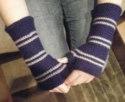 Ravenclaw Arm Warmers by LeluDallas
