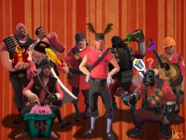 Christmas 2010 TF2 by RadioactiveNemofish