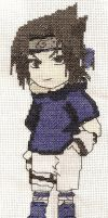 Sasuke Cross Stitch by SarAnna2195