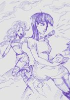 Maud and Pinkie. by Rykey2345