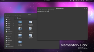 elementary Dark - GTK3 Theme by satya164