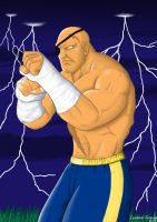 Sagat by claudineiart