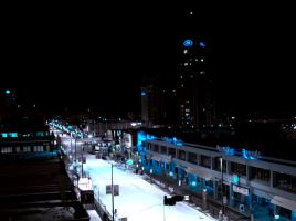 Downtown Anchorage at Night by jgompert