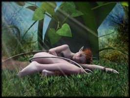 Wildfairy sleeping by LillithI