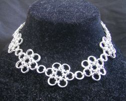 Japanese Flowers Necklace by enchantress13