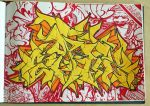 YELLOW WILDSTYLE SANZ ONE by SANS-01-2-MHC-BS
