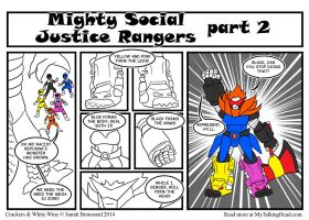 CWW: Mighty Social Justice Rangers 2 by ibroussardart