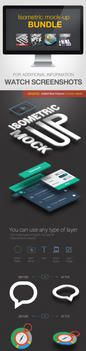 Isometric Mock-UP Actions Bundle by GraphicAssets